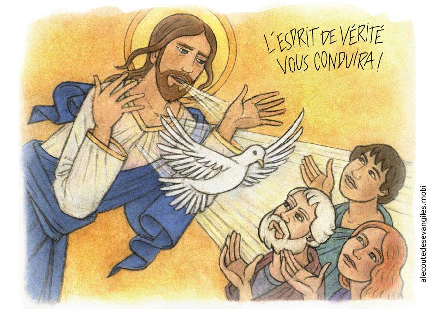 """Résultat de recherche d'images pour """"jésus donne l'esprit saint"""""""
